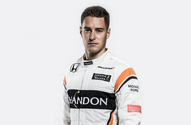 Stoffel Vandoorne will be wanting to make a mark against Alonso quickly to establish himself. (Image Credit: @McLarenF1 Twitter)