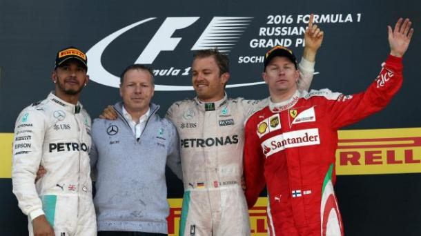Winning in Russia meant Rosberg held a 43 point advantage over Hamilton, after just four rounds. (Image Credit: Formula One)