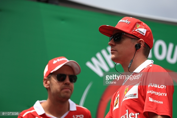 After nine races, Raikkonen's 88 point deficit to Vettel has left Ferrari 33 points behind Mercedes in the constructors'. (Image Credit: Octane/Getty Images)