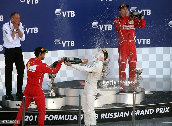 By winning in Russia, Bottas has given Mercedes many questions to answer about how it deal with the Ferrari threat. (Image Credit: