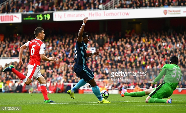 Adama Traore ran at a weekend record 37 k/ph against Arsenal | Photo: GettyImages/ Dan Mullan