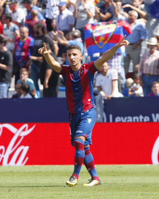 Enis Bardhi, jugador del Levante (Foto: levanteud.com)