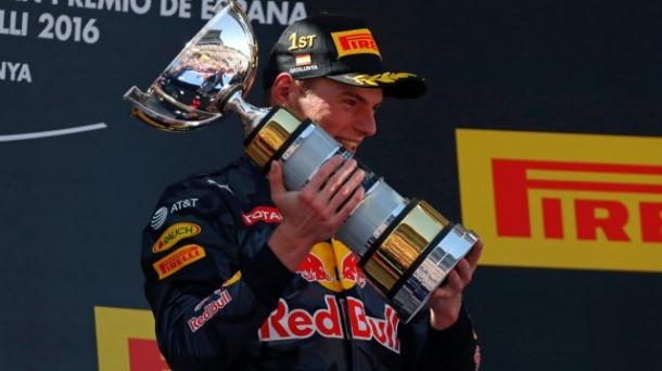After the road was cleared for him, and some strategic luck, Max Verstappen became the youngest GP winner, a record he will hold forever more. (Image Credit: Formula One)