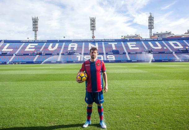Coke Andújar, nuevo jugador del Levante (Foto: levanteud.com)