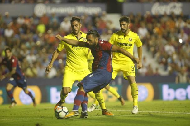 Enfrentamiento entre Levante y Villarreal (Foto: levanteud.com)