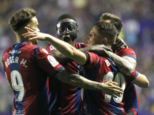 El 5-4 al FC Barcelona ha pasado a los anales del club levantinista como una de las citas más importantes de su historia / Fuente: Levante Web Oficial