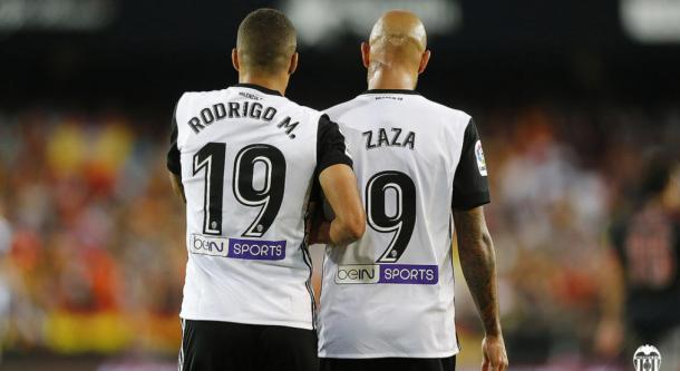 Rodrigo y Zaza. / Foto: valenciacf.com