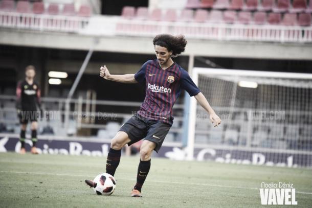 Marc Cucurella dió el salto con el Barça B de la mano de García Pimienta. FOTO: Noelia Déniz