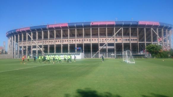 Atlético Nacional ultima detalles en la sede deportiva de San Lorenzo de Almagro.   Foto: Atlético Nacional