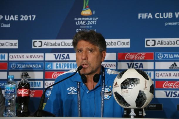 Renato Portaluppi durante coletiva (Foto: Divulgação/Grêmio)