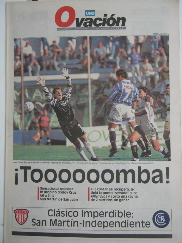 Foto: Tapa Diario Ovación