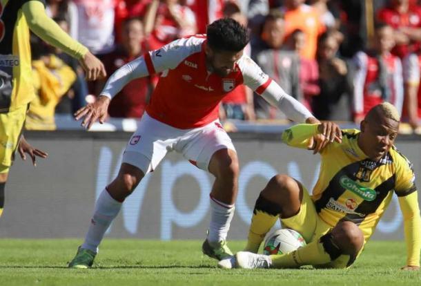 Andrés Pérez siempre es sinónimo de entrega y buen fútbol. Imagen: Inaldo Pérez / Sistema Integrado Digital RCN Radio