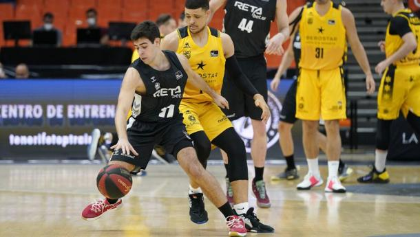 Miguel Ruiz, uno de los más destacados del último enfrentamiento entre CB Canarias y Bilbao Basket | Fuente: Agencia EFE (Fototeca)