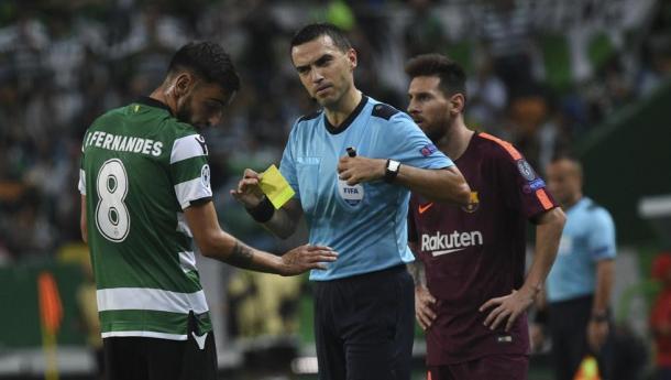 Ovidiu Hategan arbitró al Barça en Lisboa. FOTO: Noelia Déniz