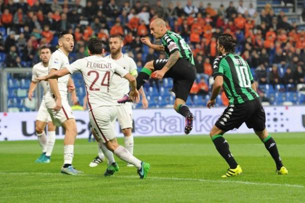 La rete di Cannavaro che ha illuso il Sassuolo contro la Roma   Foto: Il Resto del Carlino
