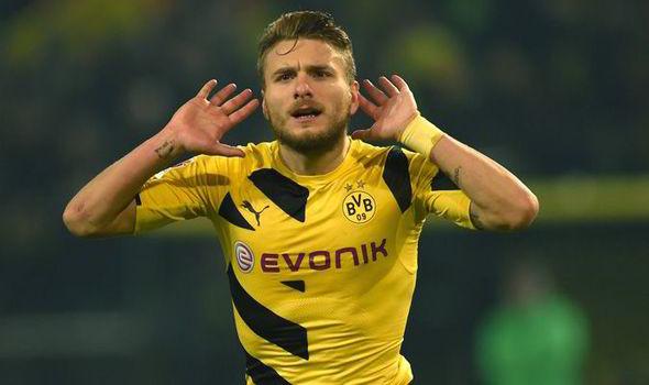 Immobile con el Dortmund  Getty images