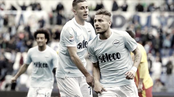 Immobile celebra uno de los goles al Benevento | Foto: SS Lazio