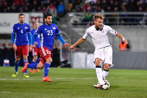 Il gol del 2-0 di Ciro Immobile