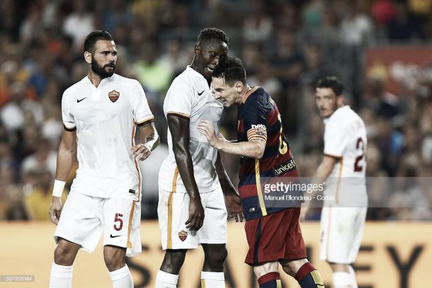 Imagen del último partido entre Barça y Roma en el Camp Nou. Foto: gettyimages.com