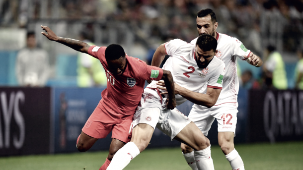 Túnez no pudo con Inglaterra | Foto: FIFA