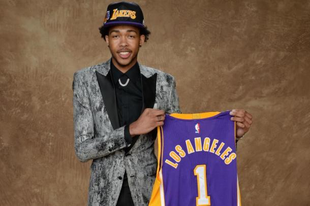 The Lakers had the second overall pick in last year's NBA Draft and drafted Brandon Ingram. Fast-forward to today and Andy believes the City of Angels will be awarded the No.1 overall pick. Photo