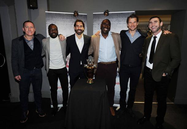 Algunos de los integrantes de Los Invencibles en un reencuentro | Fotografía: Arsenal
