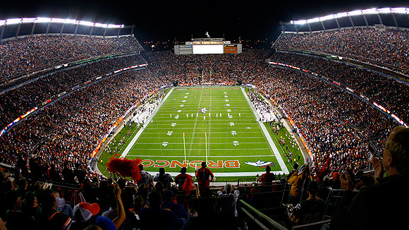 Sports Authority Field at Mile High lleno para un partido de los Broncos. Fuente: ESPN