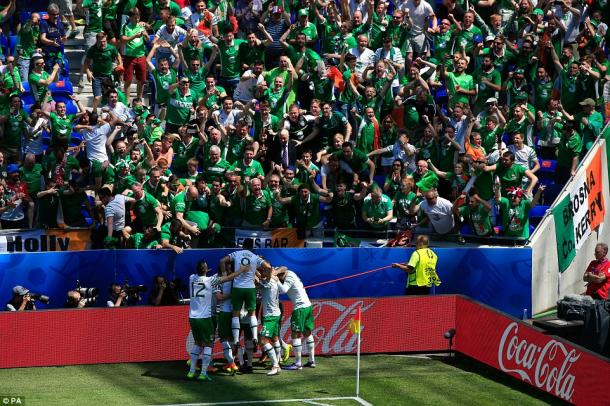 The Irish fans, both Northern and Republic, played a huge part in the tournament, but Martin O'Neill's team couldn't knock France out (photo; PA)