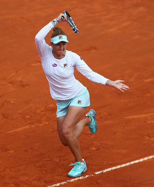Irina-Camelia Begu in action Serena Williams (Matthew Lewis/Getty Images)