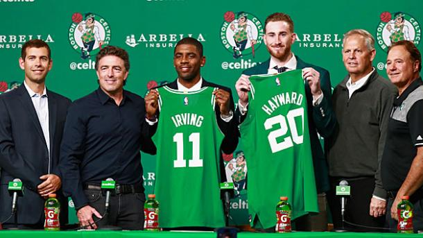 Irving and Hayward leave the teams that drafted them to begin a new quest for a championship. Photo: Omar Rawlings/Getty Images