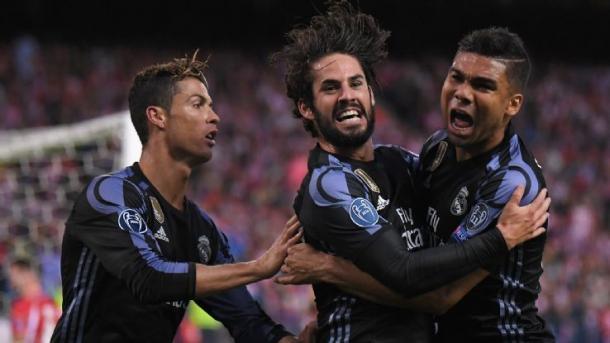 Isco celebra el gol 499 del Real Madrid en Champions/ FOTOGRAFÍA: Real Madrid.
