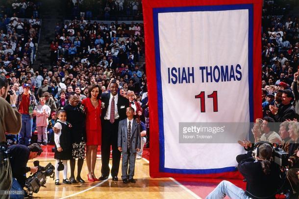 El día que la camiseta de Isiah fue retirada por siempre (Getty Images)