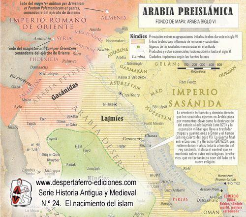 Mapa de la Península Arábiga. Fuente: Desperta Ferro Ediciones
