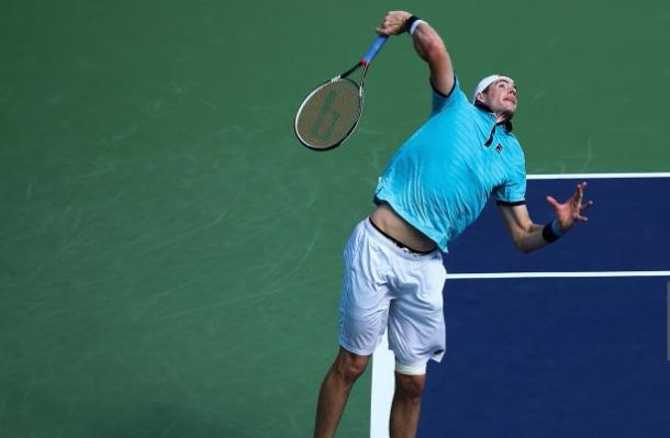 Photo Source: Lintao Zhang/Getty Images: John Isner's serve failed him.