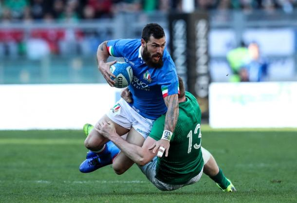 L'azione di Hayward | twitter - @SixNationsRugby