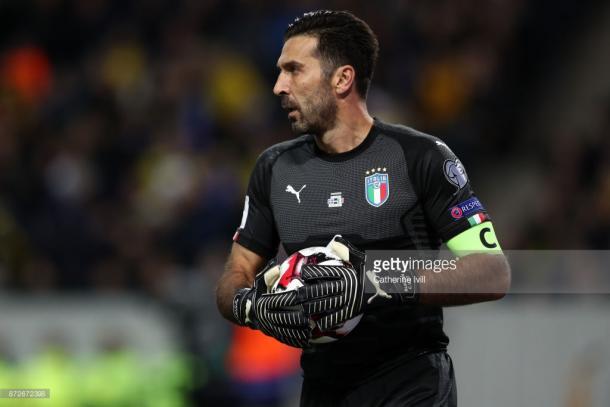 Buffon es el jugador con más internacionalidades del combinado italiano / Foto: gettyimages