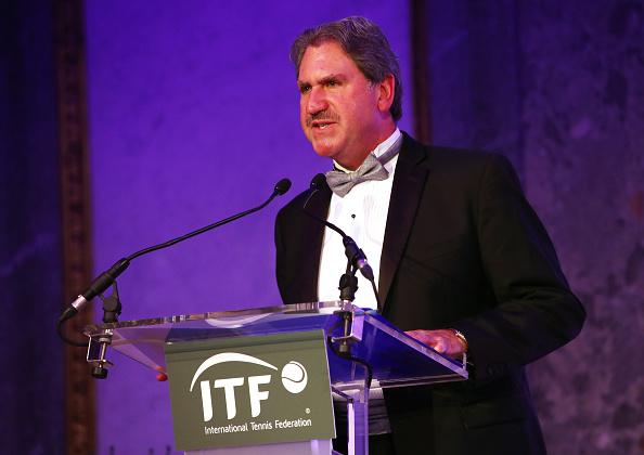 Haggerty speaking at the recent ITF World Champions Dinner (Photo: Getty Images/Clive Brunskill)