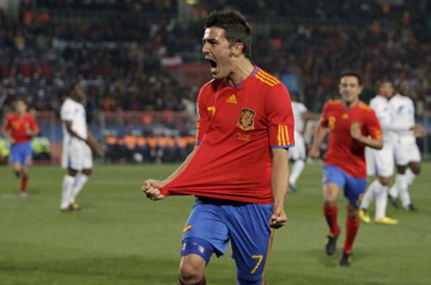 Villa foi um dos quatro artilheiros da Copa | Foto: Espinosa/AFP