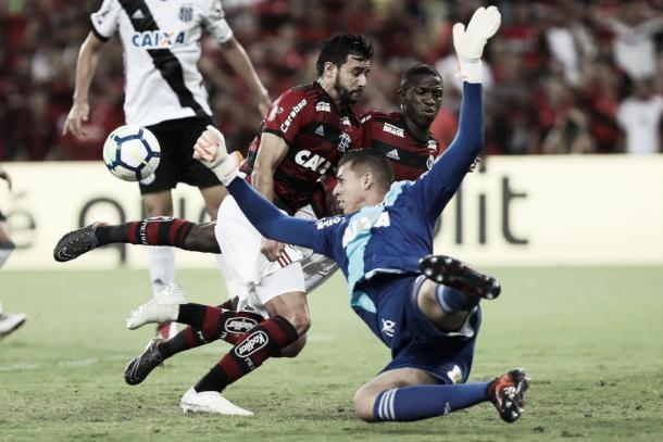 Goleiro Ivan fez boa atuação. Foto: Gilvan de Souza/Flamengo