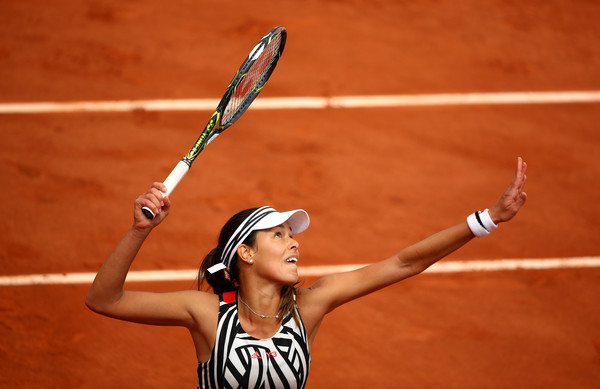 Ana Ivanovic in second round action against Kurumi Nara on Day 5 of the French Open (Clive Brunskill/Getty Images)