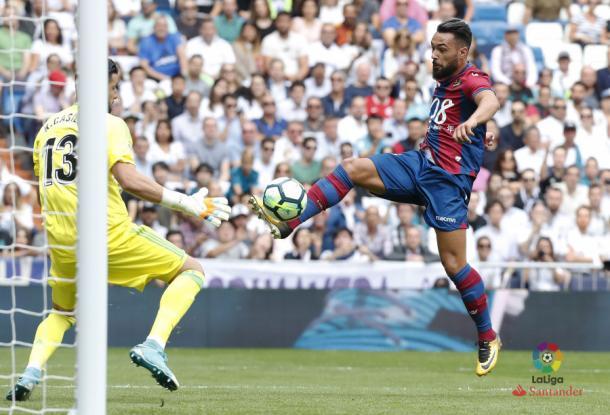 Ivi marca ante el Madrid | Fuente: LaLiga