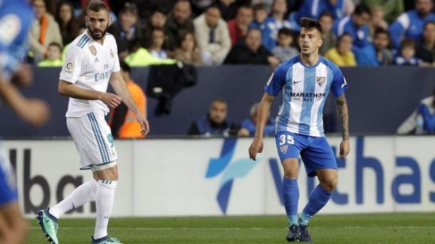 Iván Rodríguez, primer canterano que debuta de la mano de González / Málaga CF