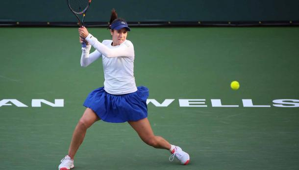 McHale was aggressive and effective in stopping Muguruza's flow throughout, especially in fast-paced rallies | Photo: Getty
