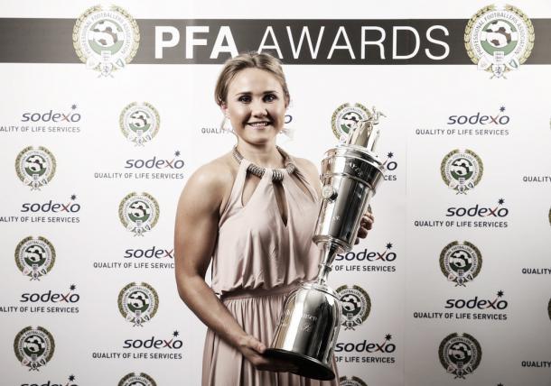 Christiansen's award. | Image credit: PFA