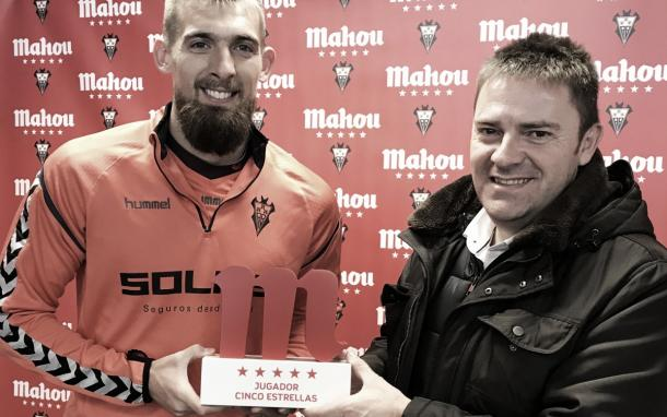 Saveljich con el Alba | Foto: Web oficial Albacete