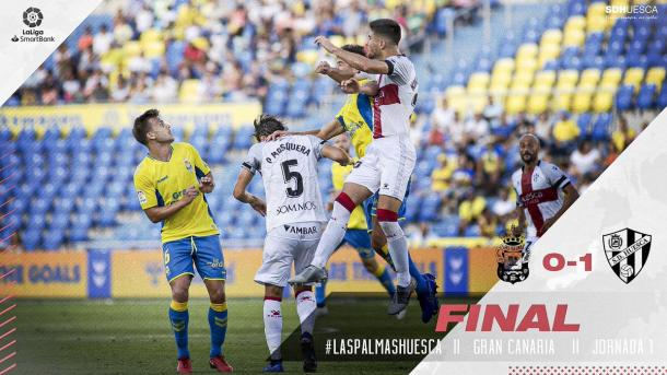 Las Palmas 0 - 1 Huesca. / Fotografía: SD Huesca