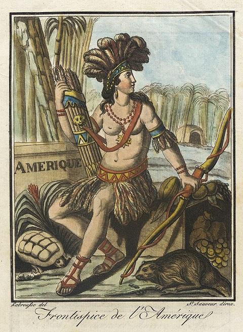 Alegoría de América (1796), de Jacques Grasset de Saint-Sauveur (1757-1810). PD