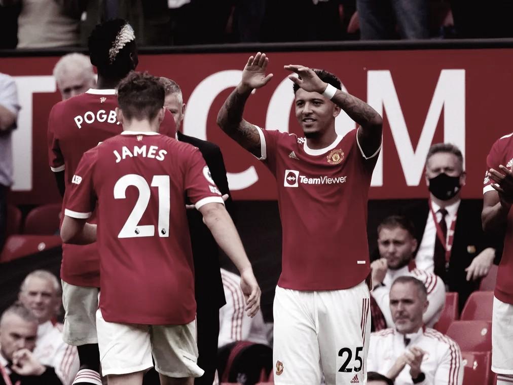 <strong><a  data-cke-saved-href='https://vavel.com/es/futbol-internacional/2020/11/12/premier-league/1046527-manchester-united-un-gigante-desesperado.html' href='https://vavel.com/es/futbol-internacional/2020/11/12/premier-league/1046527-manchester-united-un-gigante-desesperado.html'>Jadon Sancho</a></strong> tuvo su debut | Foto: Premier League
