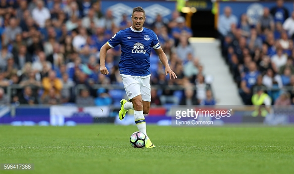 Jagielka has played in every league game for Everton this season. | Photo: Lynne Cameron/Getty Images