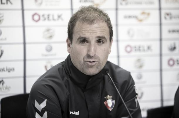 Arrasate, técnico del Osasuna | Foto: caeosasuna.es